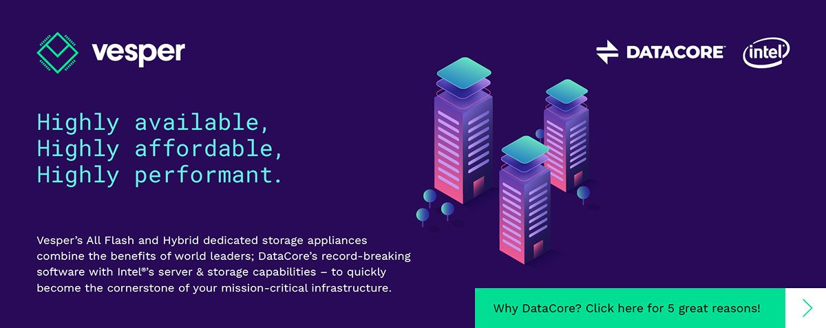 Why DataCore? Click here for 5 great reasons